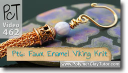 Pt 6 Faux Enamel & \viking Knit Tutorial - Polymer Clay Tutor