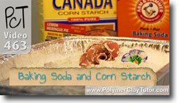 Baking Polymer Clay on Corn Starch or Baking Soda