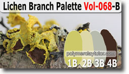 Lichen Branch Palette by Polymer Clay Tutor