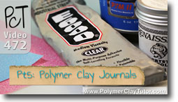 Pt 5 Polymer Clay Journals & Altered Books - Polymer Clay Tutor