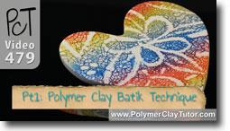 Polymer Clay Batik Technique - Polymer Clay Tutor