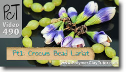 Crocus Bead Lariat - Polymer Clay Tutor