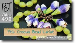 Crocus Bead Lariat - Polymer Clay Tutor