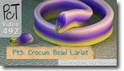 Pt 3 Crocus Bead Lariat - Polymer Clay Tutor