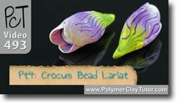 Pt 4 Crocus Bead Lariat - Polymer Clay Tutor