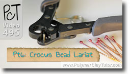 Pt 6 Crocus Bead Lariat - Polymer Clay Tutor