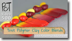 Polymer Clay Test Color Blends