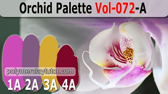 Orchid Palette by Polymer Clay Tutor