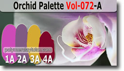 Orchid Flower Palette by Polymer Clay Tutor