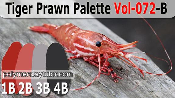 Tiger Prawn Palette by Polymer Clay Tutor