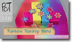Rainbow Teardrop Blend