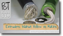 Walnut Hollow vs Makins Polymer Clay Extruders