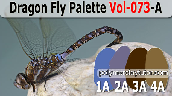 Dragon Fly Palette by Polymer Clay Tutor