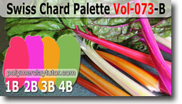 Swiss Chard Palette by Polymer Clay Tutor