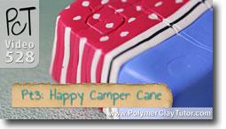 Pt 3 Happy Camper Cane Tutorial - Polymer Clay Tutor