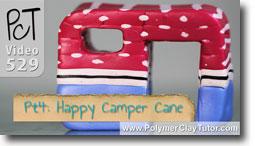 Pt 4 Happy Camper Cane Tutorial - Polymer Clay Tutor