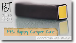 Pt 5 Happy Camper Cane Tutorial - Polymer Clay Tutor