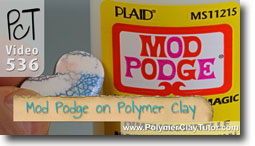 Mod Podge on Polymer Clay