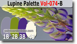 Lupine Palette by Polymer Clay Tutor