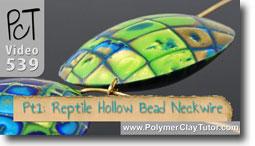 Reptile Hollow Lentil Bead - Polymer Clay Tutor
