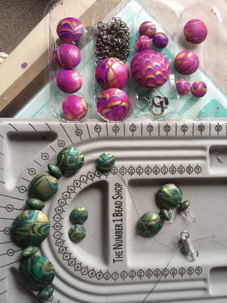 Hollow Lentil Beads Bella Green