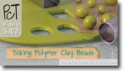 Making Same Size Or Graduated Polymer Clay Beads