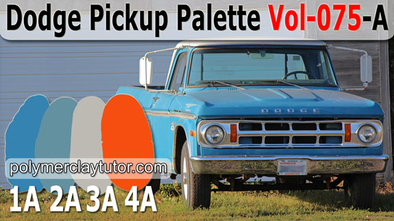 Dodge Pickup Palette by Polymer Clay Tutor