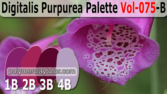 Digitalis Purpurea Palette by Polymer Clay Tutor