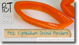 Pt 2 Cymbidium Orchid Pendant Tutorial - Polymer Clay Tutor