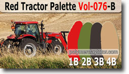 Red Tractor Palette by Polymer Clay Tutor
