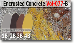 Encrusted Concrete Palette by Polymer Clay Tutor