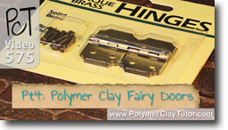 Pt 4 Fairy Doors Tutorial - Polymer Clay Tutor