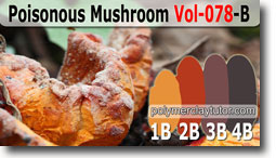 Poisonous Mushroom Palette by Polymer Clay Tutor