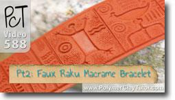 Pt 2 Faux Rainbow Raku Macrame Bracelet Tutorial - Polymer Clay Tutor