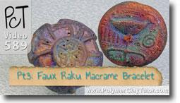 Pt 3 Faux Rainbow Raku Macrame Bracelet Tutorial - Polymer Clay Tutor