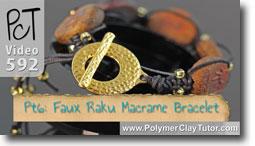 Pt 6 Faux Rainbow Raku Macrame Bracelet Tutorial - Polymer Clay Tutor