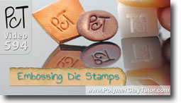 Custom Embossing Die Stamp - Polymer Clay Tutor