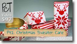 Christmas Sweater Cane - Polymer Clay Tutor