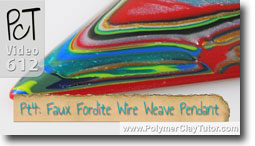 Pt 4 Faux Fordite Wire Weave Pendant Tutorial - Polymer Clay Tutor