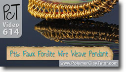Pt 6 Faux Fordite Wire Weave Pendant Tutorial - Polymer Clay Tutor