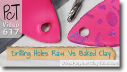 Drilling Holes in Raw Vs Baked Clay - Polymer Clay Tutor