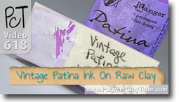 Vintage Patina Paint On Raw Clay - Polymer Clay Tutor