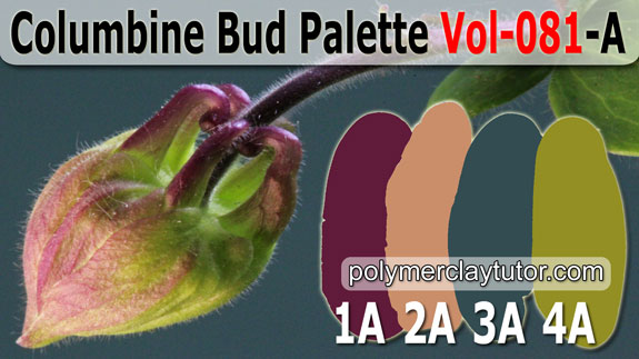Columbine Bud Palette by Polymer Clay Tutor