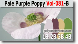 Pale Purple Poppy Palette by Polymer Clay Tutor