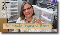 Studio Tour Organized Zones - Polymer Clay Tutor