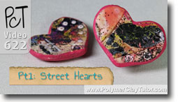 Graffiti Style Street Hearts - Polymer Clay Tutor