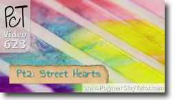 Pt 2 Graffiti Style Street Hearts Tutorial - Polymer Clay Tutor