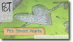 Pt 3 Graffiti Style Street Hearts Tutorial - Polymer Clay Tutor