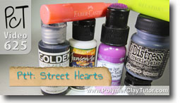 Pt 4 Graffiti Style Street Hearts Tutorial - Polymer Clay Tutor