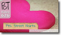Pt 5 Graffiti Style Street Hearts Tutorial - Polymer Clay Tutor